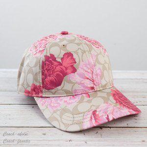 NWT Coach Hat with Signature Kaffe Fassett Print